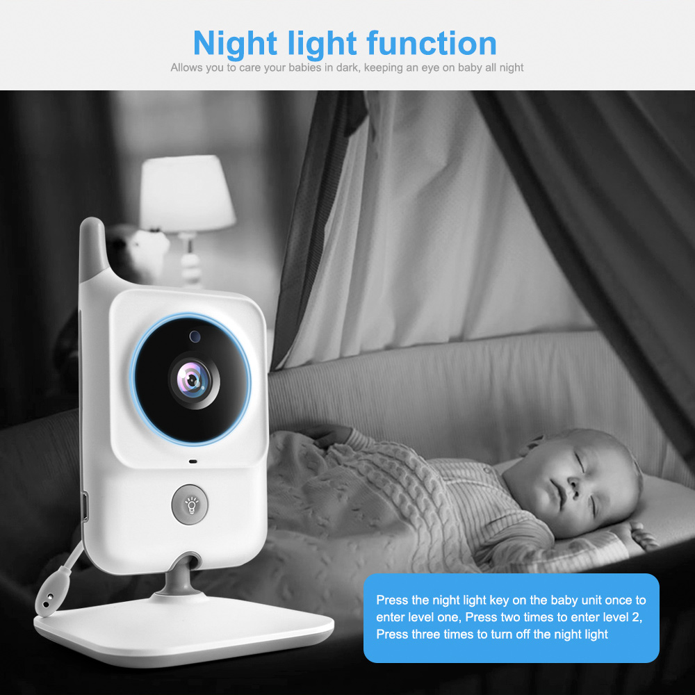 Wireless Baby Monitor With Two Way Audio Night light Temperature Pet Baby Camera 4