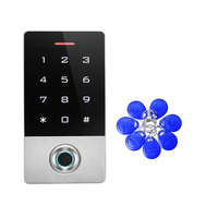 10 tags 125KHZ ID Outdoor Fingerprint password keypad access control reader for security door lock system gate opener use