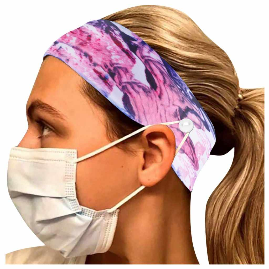 Details about  /Button Headband Face Holder Wearing Protect Ears Sports Quick Dry Sweat