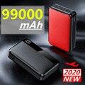 Компактный внешний аккумулятор на 99000 мАч с двумя USB-портами на 99000 мАч, внешний аккумулятор, зарядное устройство для Huawei, iPhone, Xiaomi