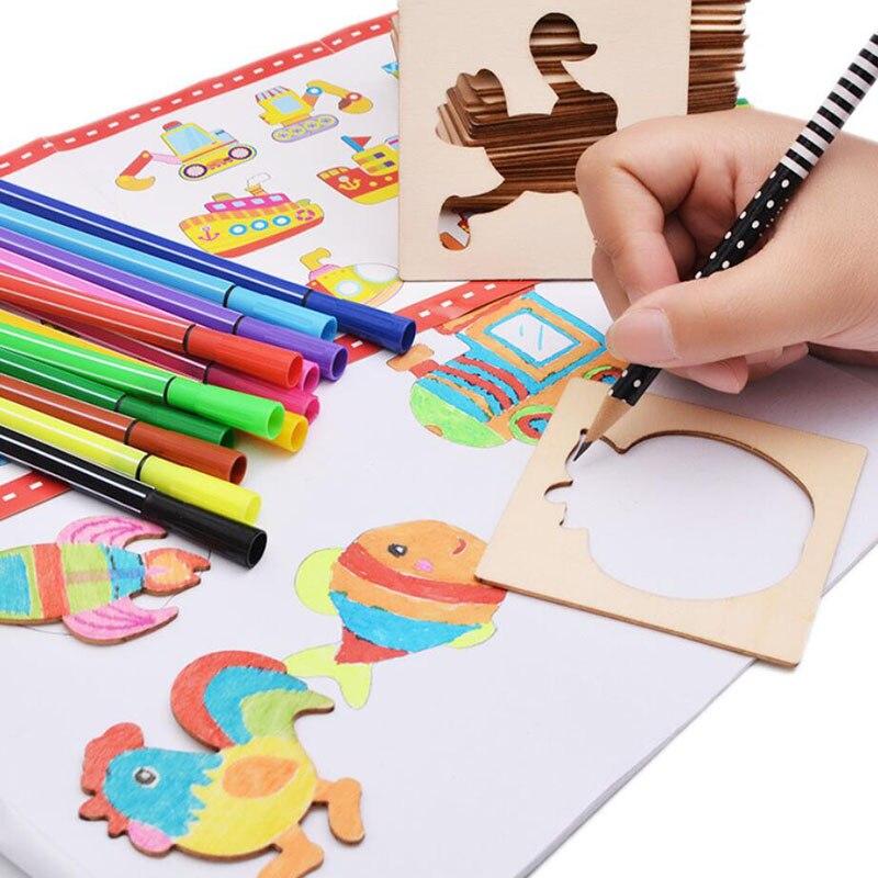brinquedos bebe pintura estencil modelos coloring 01