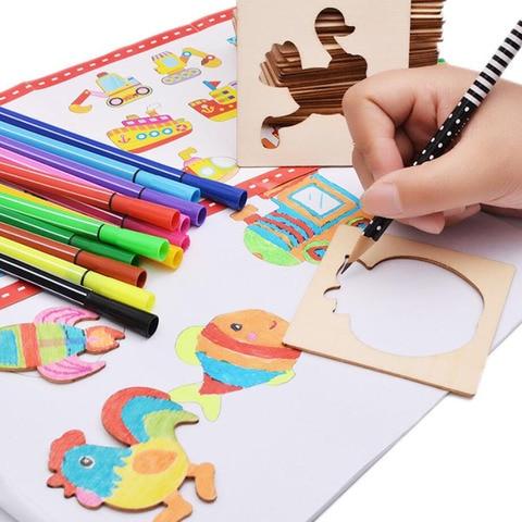 brinquedos bebe pintura estencil modelos coloring