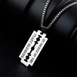 Крутой панк хип-хоп по заказу, ожерелья с подвеской в виде лезвия из нержавеющей стали, цепочка для мужчин/женщин, ювелирные изделия в подаро...