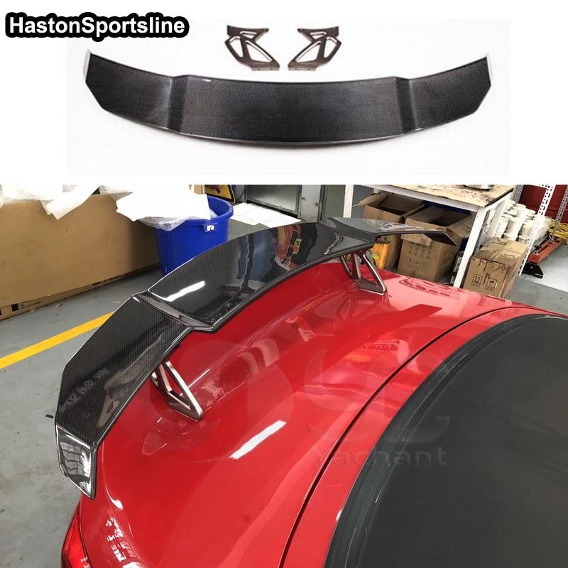 A4 B7 B8 B8.5 B9 V Style fibre de carbone voiture arrière coffre lèvre aileron aile pour Audi A4 S4 RS4 S-LINE