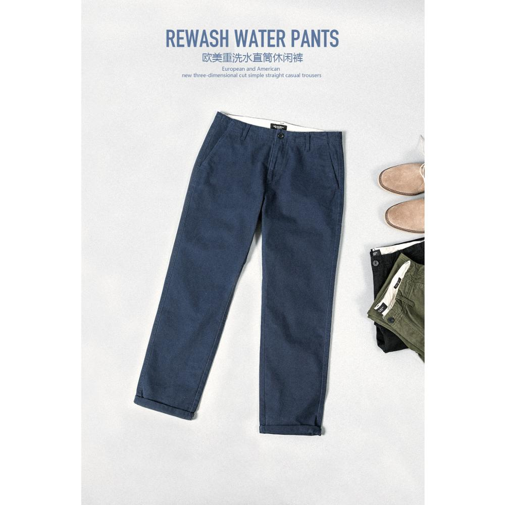 SIMWOOD 2020 Casual Pants Men Long Pants Fashion Straight Slim Spring Male Trousers High Quality Brand Clothing 4 Colors 180613