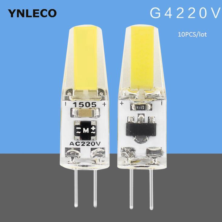 10 Bombillas LED G4 de 220V y 110V COB regulables de 2W, Bombillas LED G4 de repuesto para Bombillas halógenas de 20W y 30W Foco Led de trabajo cob 8000LM lámpara recargable uso 2*18650 batería led luz magnética portátil gancho clip impermeable