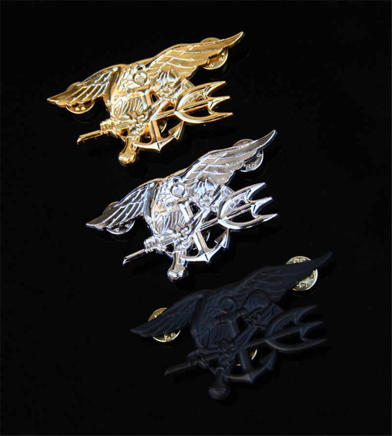 US Navy Seal Eagle Jangkar Trident Mini Medali Seragam Lambang Lencana Tentara Lencana Halloween Cosplay Prop Bros Mainan