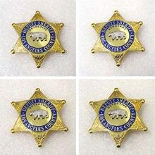 Halloween cosplay us lasd los angeles vice xerife county detetive sargento filme prop pino distintivo