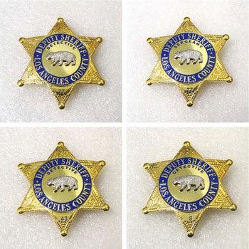 Halloween Cosplay US LASD Los Angeles Deputy Sheriff County Detective Sergeant Movie Prop Pin Badge