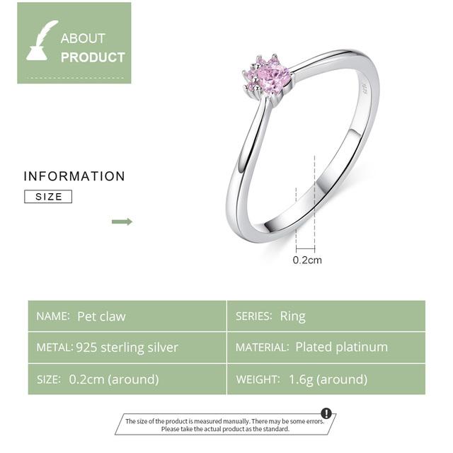 Fashion Elegant Silver Paw Patterned Ring