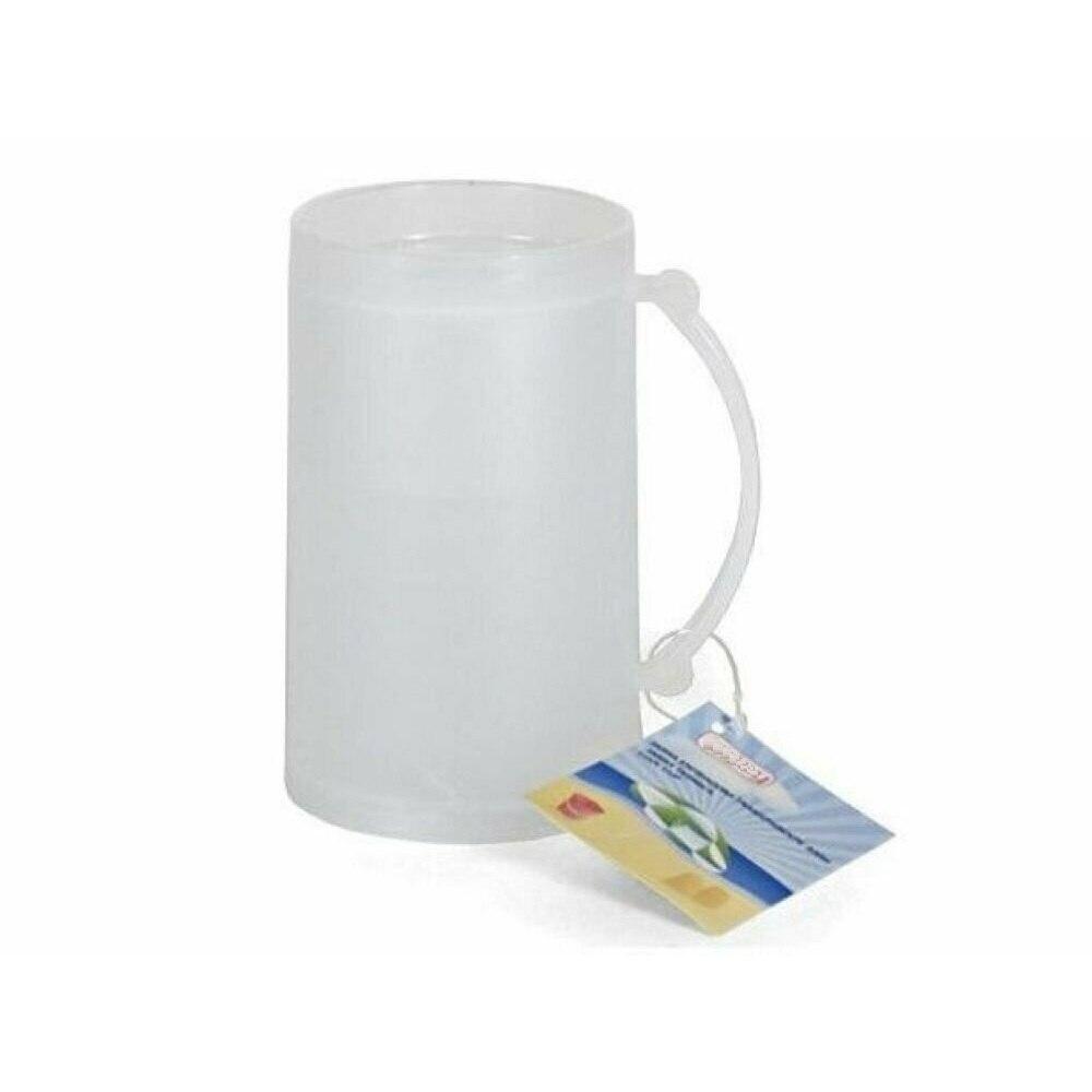 주전자 냉각기 유리 얼음 맥주 컵 머그잔 동결 아이스크림 컵 머그잔 플라스틱 15 cm