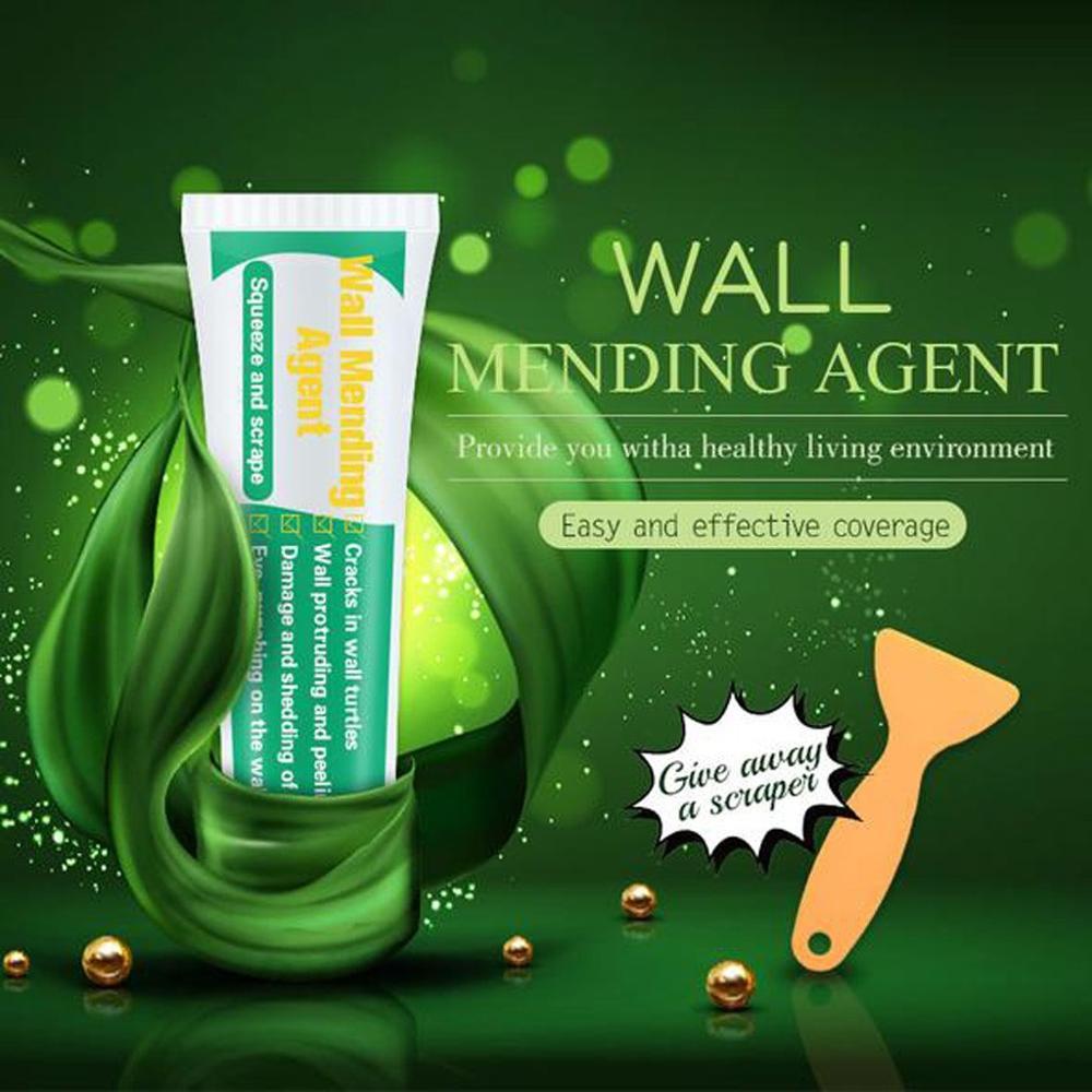 1x 250g Wall Mending Agent WITH 1x Scraper Wall Mending Agent Repair Cream Crack Nail Repairing Tool DIY Household Mouldproof