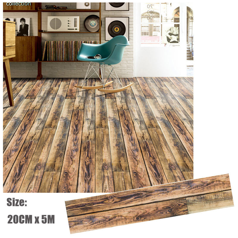 20CMx5M Decorative Film Covering Wall Sticker Removable Floor Contact Paper Wood Grain Self-adhesive Home Renovation Decor Decal