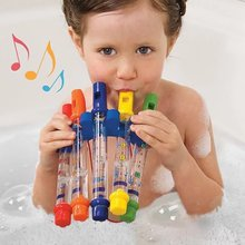 Water Flute Toy Kids Children Colorful Flutes Bath Tub Tunes Toys Fun Music Sounds Baby Shower