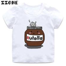 Футболка nutella с мультяшным принтом Забавная детская одежда