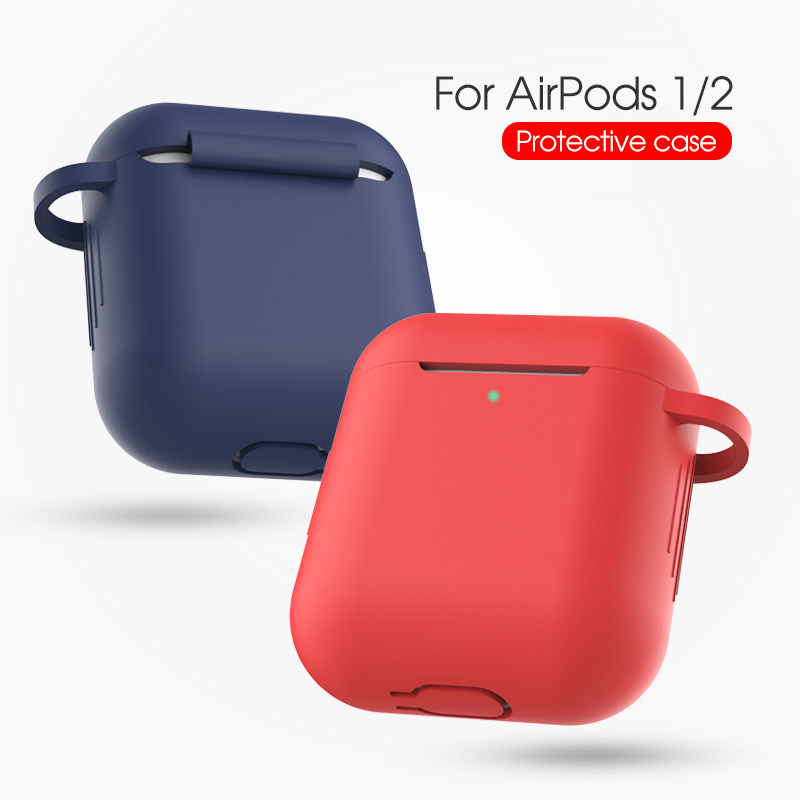 Case For Airpods Case 1/2 cute Protective Bluetooth Wireless Silicone Earphone Buckle Cover Apple Air Pod case airpods cover