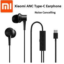Oryginalna słuchawka Xiaomi ANC type-c z redukcją szumów kontrola przewodowa z mikrofonem Hybrid HD dla inteligentnego telefonu komórkowego