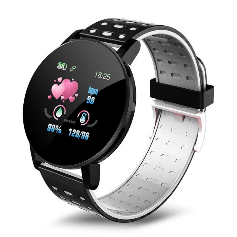 Waterproof 119 Plus Smart Bracelet Watch Heart Rate Smart Watch Wristband Sports Watches Band Smartwatch For Android IOS