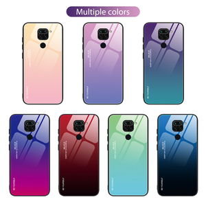 Colorful Hard Tempered Glass Case for Redmi K30 K20 Pro Cellphone Back Cover for Redmi Note 9s 9 Pro Max 8T 8 7 6 5 Pro House