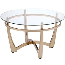 Simple Round Sofa Side Table Nordic Creative Tempered Glass Small Coffee Table