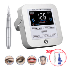 Biomaser tattoo machine kit intelligent digital eyebrow lip tattoo permanent makeup machine kit device Swiss motor rotary gun