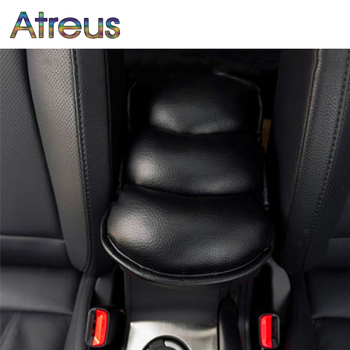 Atreus Soft PU Car Armrests Seat Cover Arm Rest Pad For Mazda 3 CX-5 Peugeot 307 206 308 407 207 508 208 406 2008 3008 5008 301 image