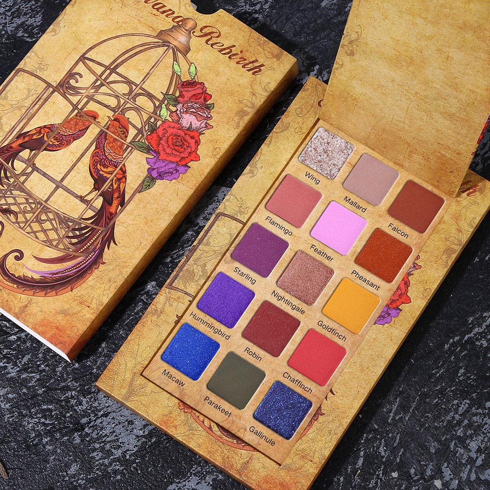 UCANBE 15 Colors Eyeshadow Palette Shimmer Matte Glitter Eye Shadow Pallete Pigmented Long Lasting Waterproof Makeup Kit in Eye Shadow from Beauty Health