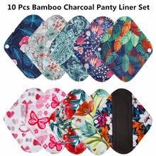 Coussinets hygiéniques féminins lavables, 10 pièces, coton réutilisable, pour maman, pour menstruel