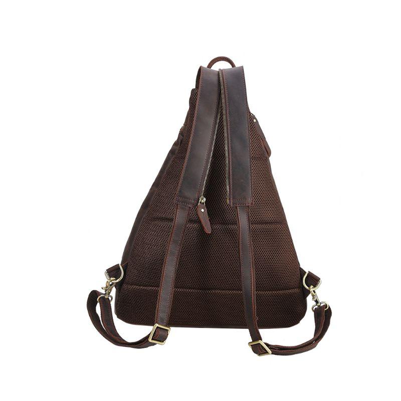 2019 модная Мужская винтажная сумка через плечо, нагрудный рюкзак, зарядка через usb, для путешествий, спорта - 4