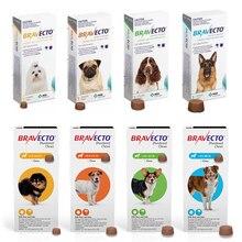 Bravecto mastiga para cães para pulga e carrapato, única dose de 12 semanas caber 2-40kg pet cat fluralaner
