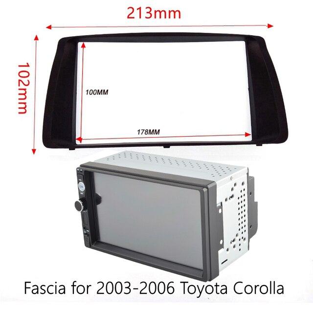 7 cal Radio samochodowe multimedialny odtwarzacz wideo lustro Link dla Toyota Corolla 2003-2006 instalacja otoczony wykończenia zestaw paneli Android 8.1