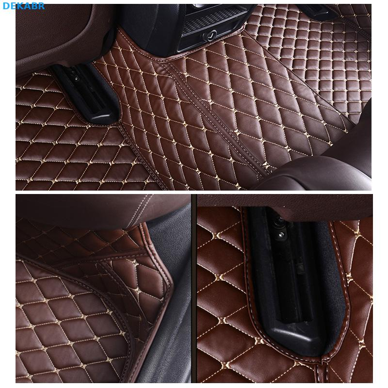 HighQual fiber leather car floor mats for ford mustang 2015 2016 2017 2018 2019 accessories - 4