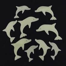 9 Teile/satz NETTE Meer Tier Glow In The Dark Spielzeug Dolphin Wand Aufkleber Luminous Leuchtstoff Sterne Spielzeug für Kinder Baby zimmer Geschenk