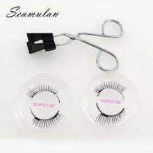 Magnetic Eyelashes with 2 Magnets Handmade No Glue Natural Soft Reusable False Extension long lashes makeup