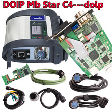 With DOIP diagnostic Full Chip MB Star C4 SD Connect Star Diagnosis C4 with Newest 2021.03 Software Vediamo DTS Free Shipping