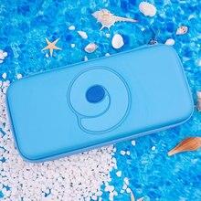 Nintend switch caso portátil azul bonito saco de armazenamento do plutônio à prova dwaterproof água capa escudo para nintendo switch lite game console acessórios