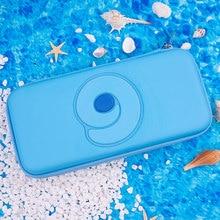 닌텐도 스위치 휴대용 케이스 블루 귀여운 스토리지 가방 PU 방수 커버 쉘 닌텐도 스위치 라이트 게임 콘솔 액세서리