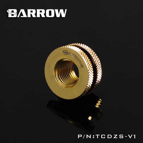 Barrow G1 / 4 ''Bianco Nero Argento bordo Oro croce acqua di riempimento in porta di ingresso di acqua per acqua computer il raffreddamento uso TCDZS-V1