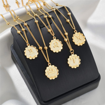 Female Elegant Star Zodiac Sign 12 Constellation Necklaces Pendants Charm Gold Chain Choker Necklaces for Women Jewelry Dropship 1