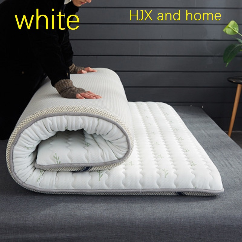 HJX Thicken 10 Cm Mattress Single Double Size 100% Natural Memory Foam Latex Filling Stereoscopic Breathable Comfortable