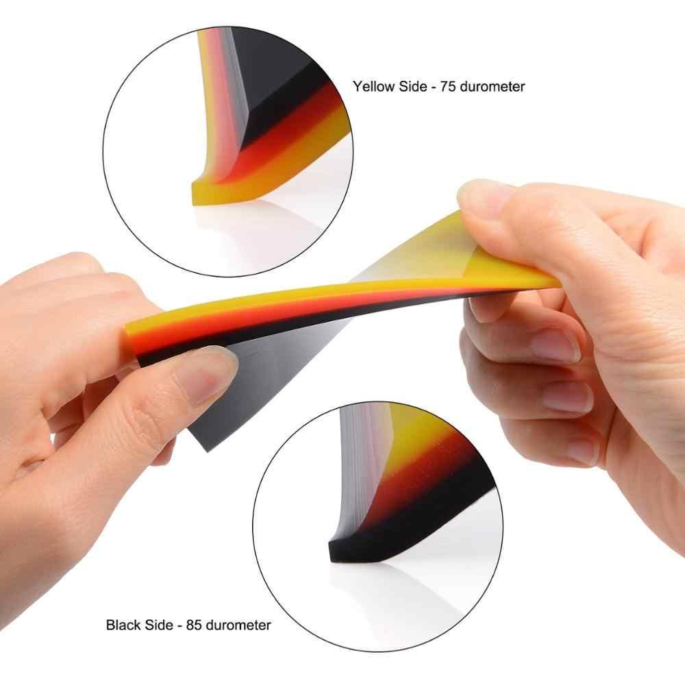 EHDIS 2in1 3 층 소프트 비닐 보호 필름 설치 스퀴지 창 색조 도구 자동차 청소 브러시 라벨 리무버 아이스 스크레이퍼