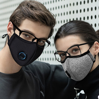 Korean PM2.5 Fabric mouth face mask Anti Haze/Anti dust Pollution mouth mask Respirator With Carbon Filter Respirator Black Mask