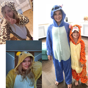 Image 5 - Pijama de mujer de invierno KIGUCOS, disfraz con capucha de dibujos animados para niños, pijama de dinosaurio Kigurumi Animal, ropa de casa de franela caliente todo en uno