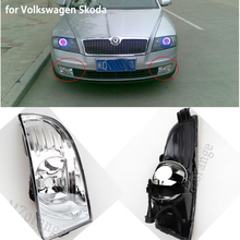 Fog Light Assembly for SKODA OCTAVIA A5 2010 2011 2012 2013 Super Bright DRL Daytime Running Light With Fog Lamp Hole Waterproof right light for skoda octavia a7 sedan octavia a7 combi 2013 2014 2015 2016 2017 car styling front halogen fog light fog lamp