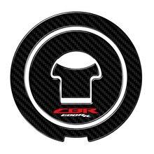 Adesivos cbr 600 rr 3d carbon-look motocicleta adesivo de combustível tampa de gás protetor decalques caso para honda cbr600rr cbr 600rr 2003-2016