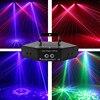 6 눈 Dj RGB 레이저 패턴 라인 빔 스캐너 미니 디스코 Lazer 무대 조명 안개 기계 나이트 클럽 KTV 바