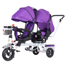 Детский трехколесный велосипед для детей 1-3-7 лет, светильник на колесиках