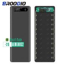 10*18650 Power Bank Case Dual Usb Met Digitale Scherm Mobiele Telefoon Oplader Diy Shell 18650 Batterij Houder opladen Doos
