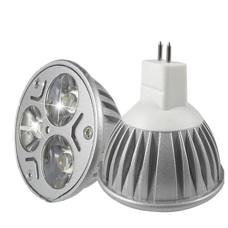MR16 Lampada ampoule LED GU5.3 3w Dimmable 110V 220V Projecteurs E27 E14 Gu10 DC12V Lampes