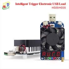 Rd hd25 hd35 gatilho qc2.0 qc3.0 usb eletrônico carga resistor descarga bateria teste ajustável tensão atual 35w